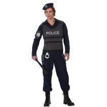 Disfraz de policía con chaleco antibalas
