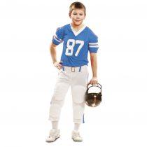 Disfraz azul de jugador de Fútbol Americano