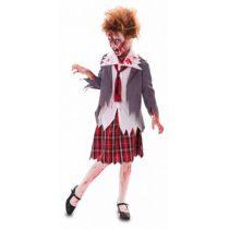Disfraz Zombie Colegiala para niña